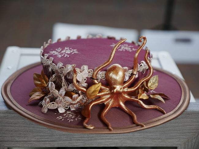 Art And Craft Celebration Close-up Creativity Design Floral Pattern Focus On Foreground High Angle View Indoors  Jewelry Luxury No People Pattern Personal Accessory Plate Ribbon - Sewing Item Shape Star Shape Steampunk Fashion Steampunk Style Still Life Table Wood - Material
