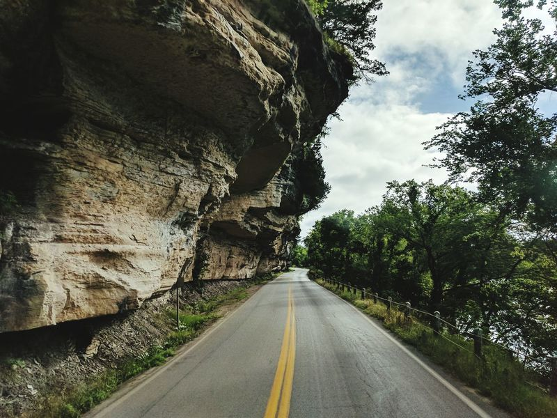 First Eyeem Photo Road Rock Formation Winding Road Summer Driving Scenic Drive