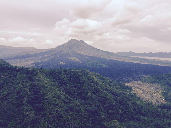 Bali, Indonesia Beauty In Nature Cloud - Sky Landscape Mountain Mountain Peak Nature Sky Travel Destinations Volcanic Landscape Volcano
