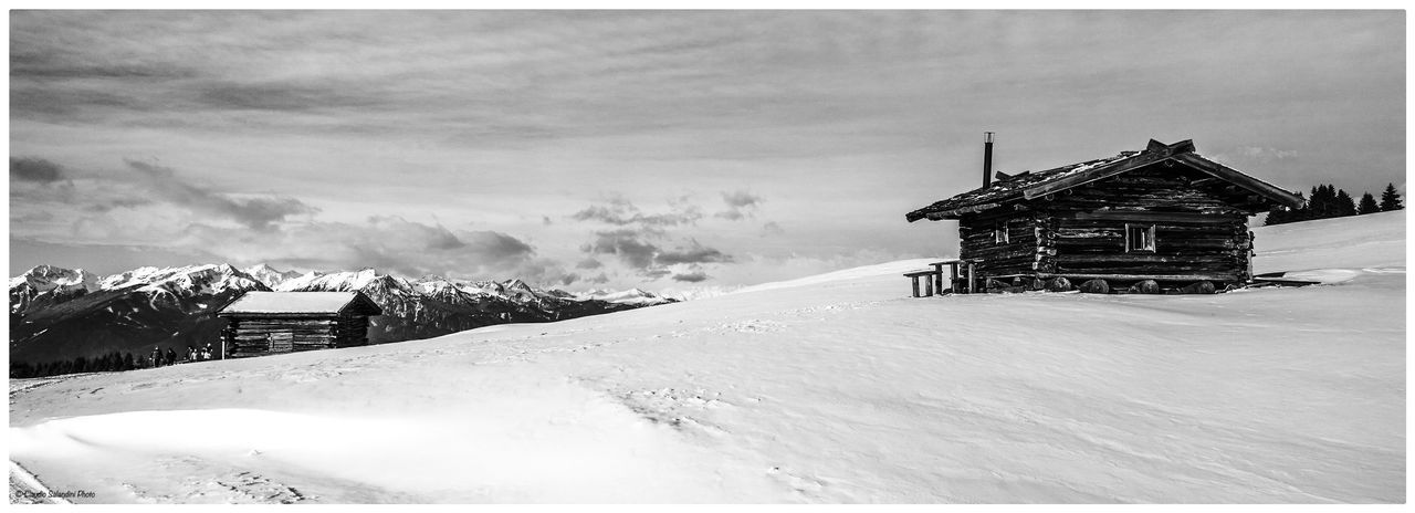 Altopiano di Luson, January 2015 Architecture Beauty In Nature Blackandwhite Photography Building Exterior Built Structure Cold Temperature Day Nature No People Outdoors Roof Scenics Sky Snow Weather Winter