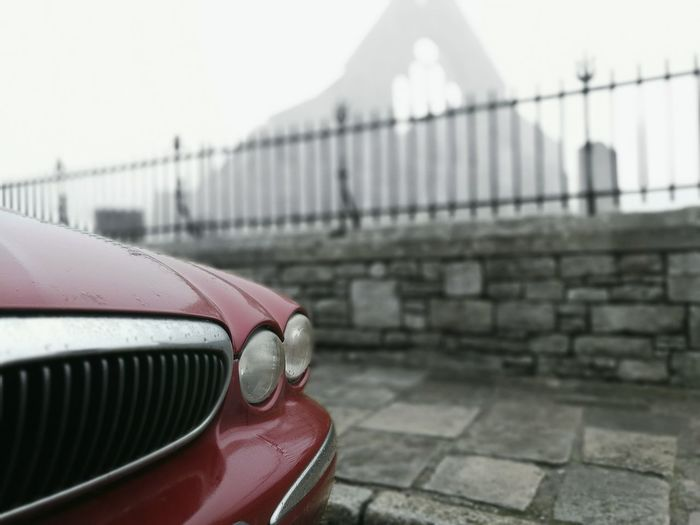 Outdoors Cold Days Car Background Foreground Built Structure No People Architecture Grey Day Grey Sky