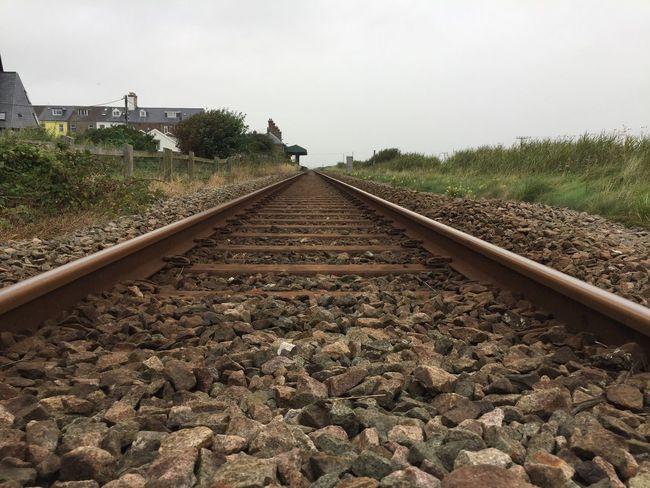 Railway Gravel Railroad Track Parrallel Lines