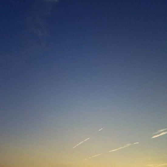 夕空 そら部 ソラ 空 くも 雲 夕方の空 夕方 夕方散歩 今日の空 今日の雲