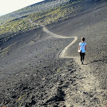 Full Length One Person Outdoors Real People Day Sand Adults Only People Beach One Woman Only Adult Nature Beauty In Nature Vulkan VolcanOsorno Tranquility Chile Scenics Landscape Chilegram Chilefotos Tourism Volcanic Landscape