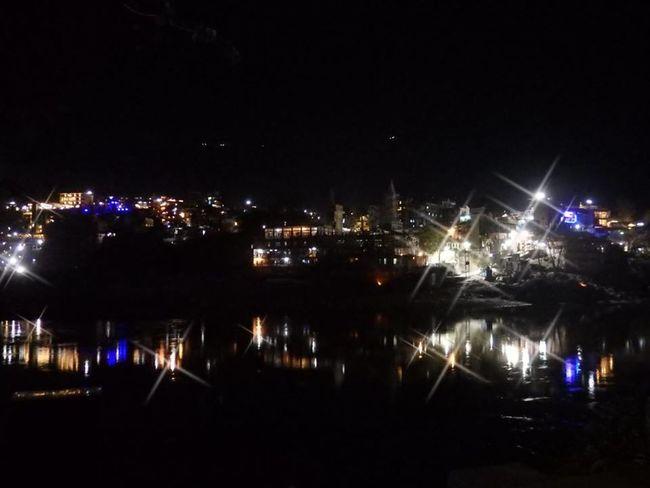 LaxmanJhula Building Exterior City Cityscape Ganga Illuminated Night Outdoors Rishikesh River