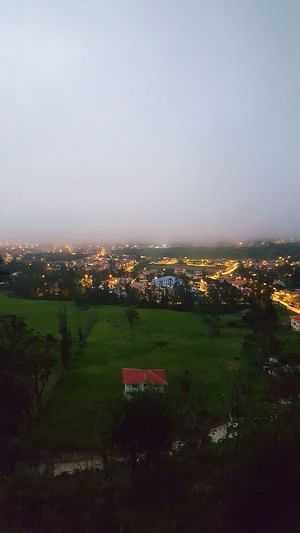 as the fog settles Ecuador Fog Town Girón Nature Dawn Landscape Beauty In Nature Sky Illuminated No People Cloud - Sky Tranquility Grassy Calm Grassland Views Tree