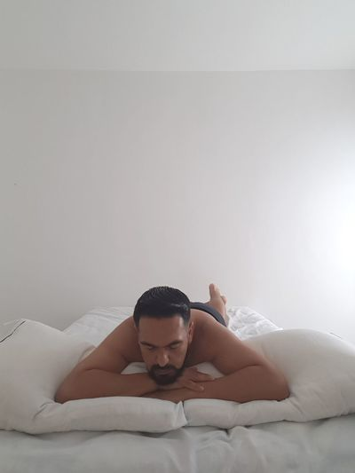 R E S T I N G #resting #JustMe #enjoy #Morning #beautiful One Person Adults Only Young Adult People Adult Relaxation Indoors  One Man Only Shirtless Lifestyles Only Men Beauty