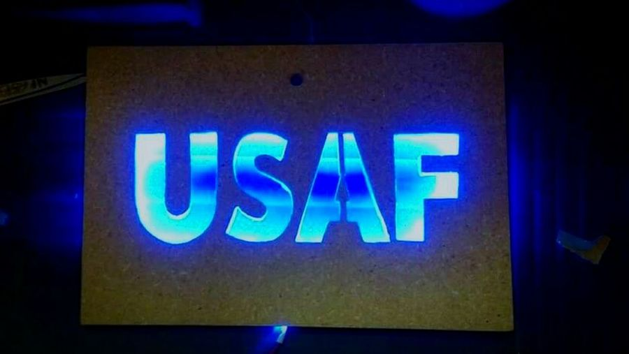 All The Neon Lights Sign, Light, Box, Darkness And Light Fun, Hobby, Picture USAF, United, States Air Force Military