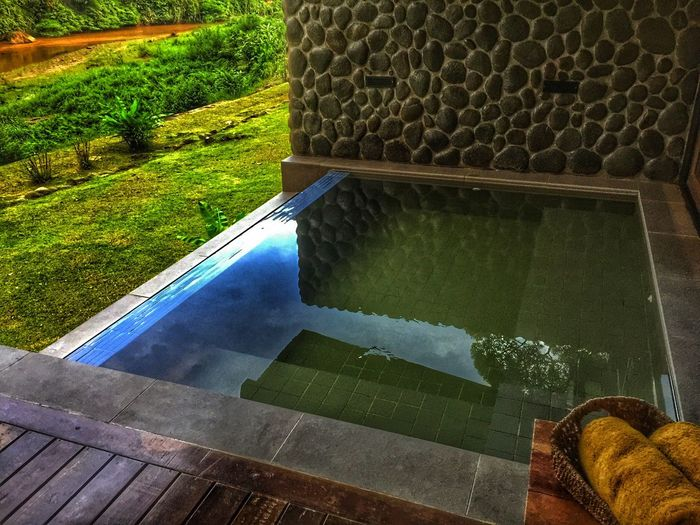 Water High Angle View No People Day Nature Outdoors Grass Infinity Infinity Pool Plunge Pool Resort Malaysia Sabah Borneo Borneo Rainforest Lodge Danum Valley Modern Luxury Home Showcase Interior Architecture Accommodation Home Interior Built Structure Wood - Material Porch