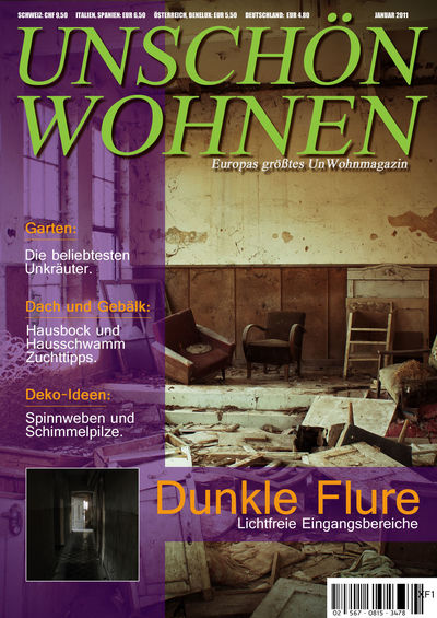 Abandoned Buildings Communication Compositions Fun Humor Indoors  Magazine Cover No People Photoshop Printmedien Text Unschön Wohnen