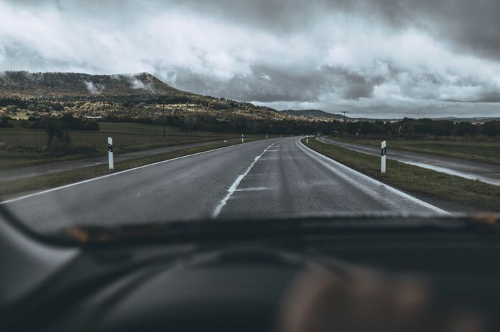 Transportation Road Car Interior Windshield Car Car Point Of View Driving Landscape Journey Travel Mode Of Transport Outdoors Nature Nature_collection Nature Photography Cloud - Sky Clouds And Sky Cloud Clouds Be. Ready.