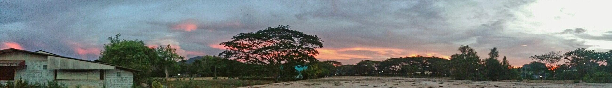 Panaroma Nature Sunset Clouds And Sky