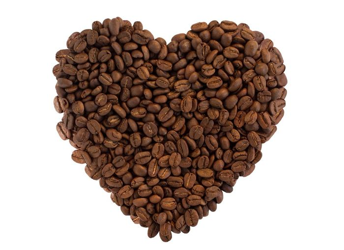 coffee beans heart shape Like Coffee Lover Copy Space Roasted Coffee Bean Coffee Bean Coffee Coffee Shop Food Brown Heart Shape Love Studio Shot White Background Positive Emotion Shape Textured  Directly Above Close-up Design Pattern