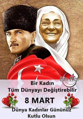 ATATÜRK. AND MOTHERS Human Representation Text Male Likeness Representation Communication Portrait International Women's Day 2019 People Men Female Likeness Smiling Happiness Two People