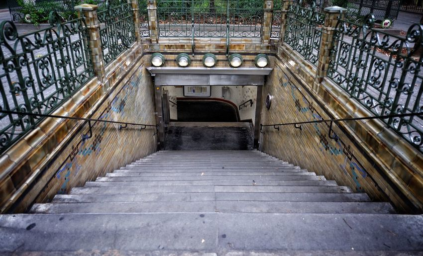 Staircase leading towards historic building