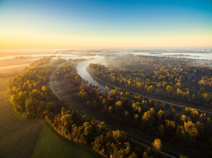 Der Lech im Herbstnebel Bayern Germany Bayern Fluss DJI Mavic Pro Drohne Dji Luftbild Autumn colors Autumn Nebel Augsburg Lech Scenics - Nature Beauty In Nature Tree Sky Plant Tranquil Scene Nature High Angle View Environment Tranquility Landscape No People Idyllic Aerial View Outdoors Land Day Growth