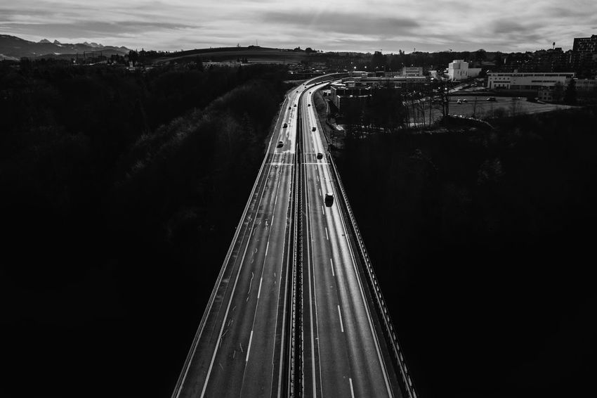 The Week On EyeEm B&w Blackandwhite Bridge - Man Made Structure Connection Dronephotography High Contrast Road The Way Forward Transportation