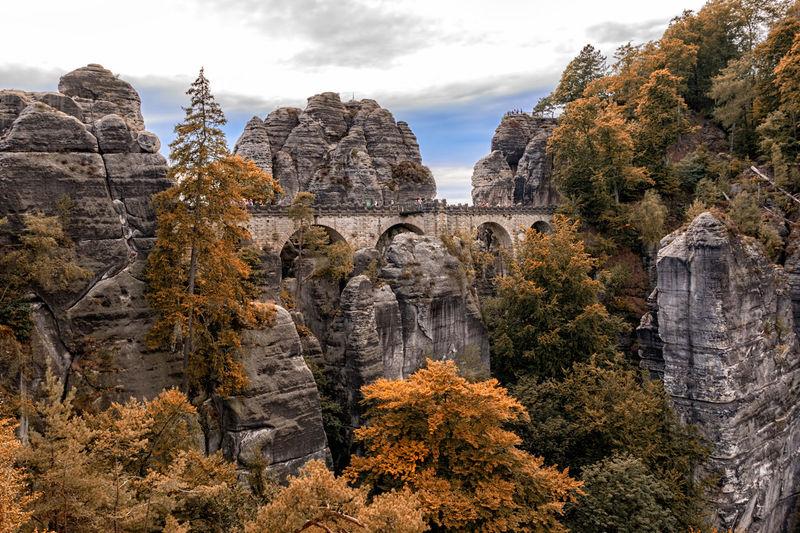 Scenic view of bastei bridge