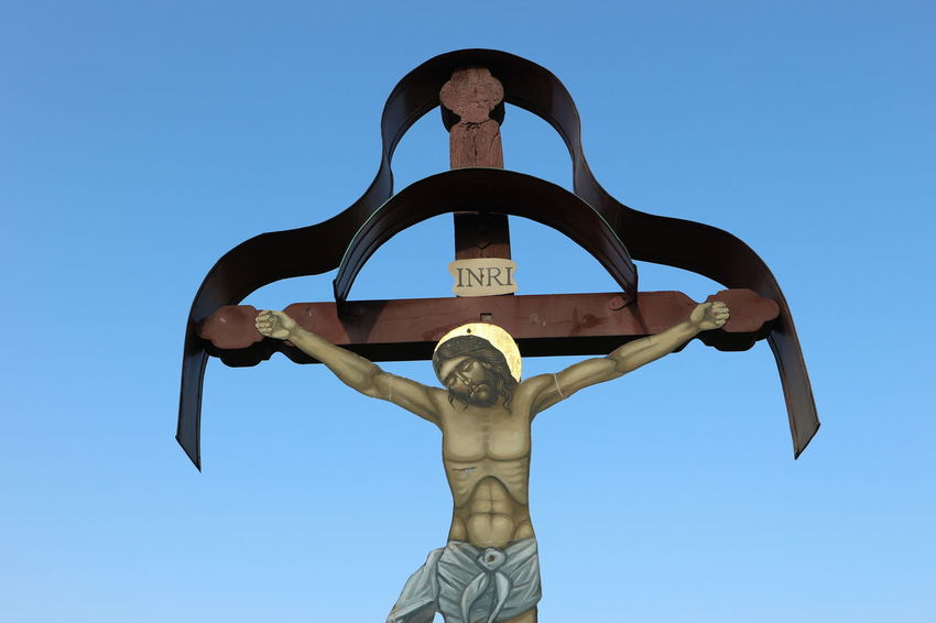 Jesus Jesus Christ Tranquil Scene Memories Outdoors Blue Clear Sky Monument Day INRI Religion Catholic This Is Masculinity