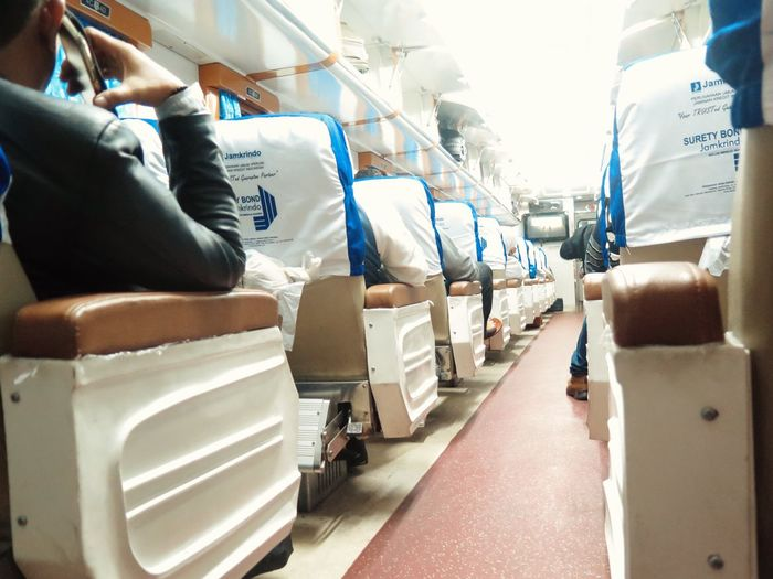 On the way to Semarang by Train Travelling alone