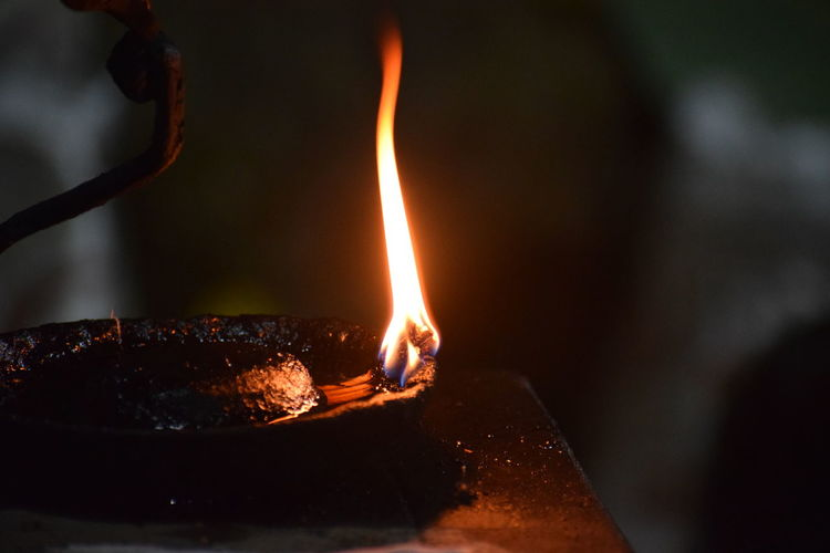 bhoota kola South India Traditional Festival Culture Belief Night Nightphotography Nikon Nikond5300 Beauty Dhakshina Kannada Tulunaadu Bhoota Kola Flame Heat - Temperature Burning Motion Close-up Oil Lamp Diya - Oil Lamp