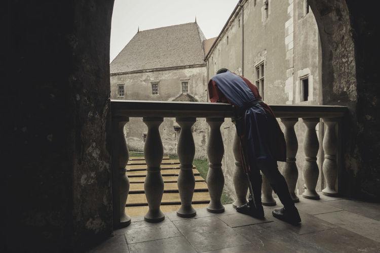 Architecture Back Building Exterior Built Structure Castle Day Full Length Hunedoara Man Outdoors Rear View Rear View