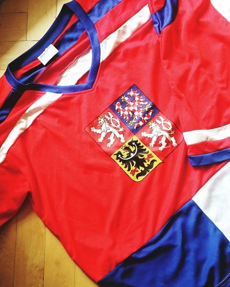 Flag Red Textile No People Indoors  Close-up Patriotism Day Flag Czech Republic Icehockey Icehockey World Championship Cheer Up Tricolor National Flag 🇨🇿🏒👏🙌