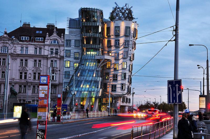 Prague Landmark Famous Place Drunk Streetphotography Lights Long Exposure