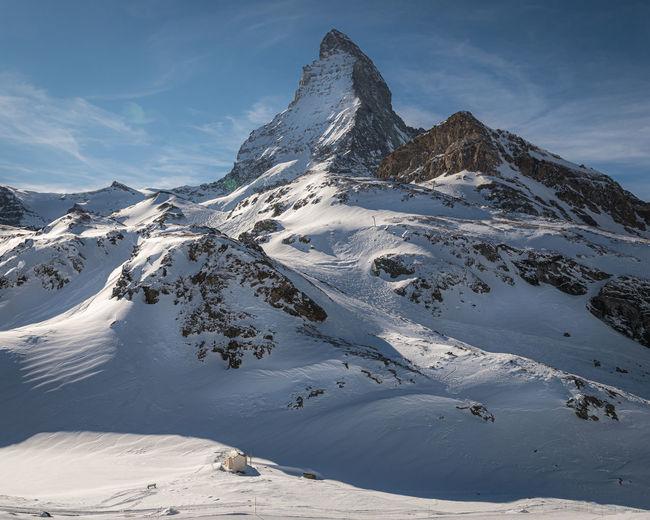 Maria zum see chapel and matterhorn , zermatt