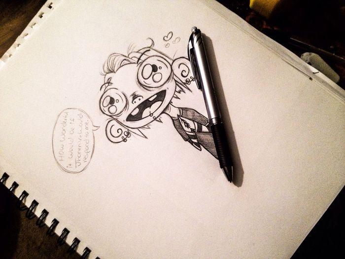 Cute Creepy Drawing Doodle Cartoon Art Sketch Anime Wip