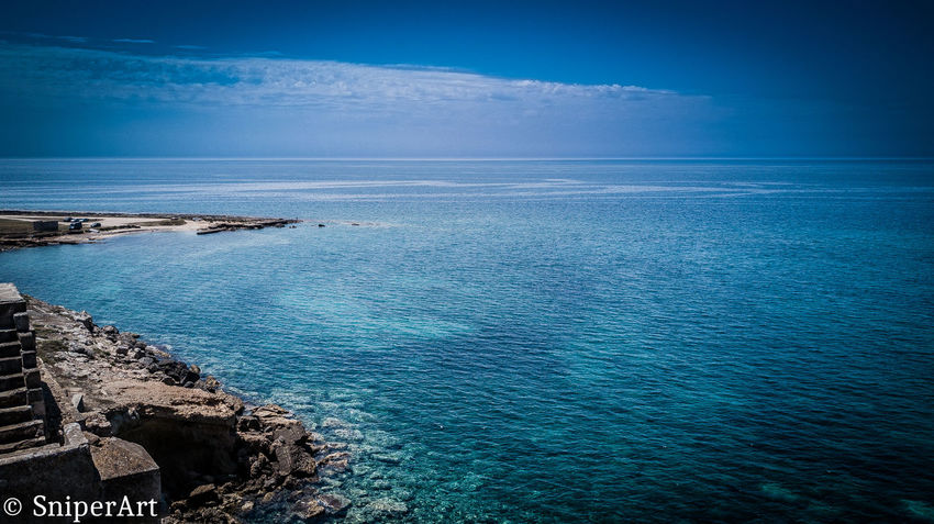 Beauty In Nature Blue Day Horizon Over Water Nature No People Outdoors Rock - Object Scenics Sea Sky Tranquil Scene Tranquility Water
