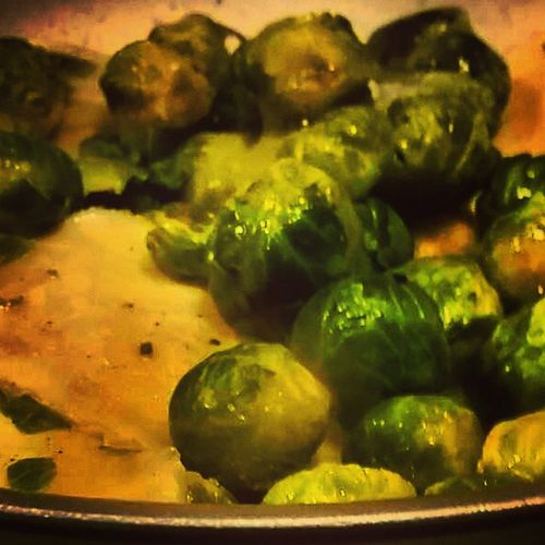 What is for dinner? Perogies Brusselsprouts Health Yummo getinmytummy lifeisbetterinCOLOR even london ate some! delish mystory114 yummo instafood veggies eatwithyoureyes veggies