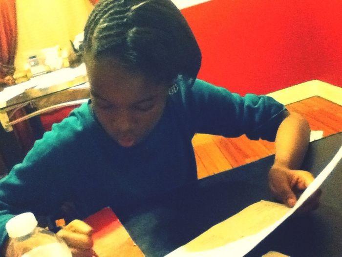She Doing Her Hw