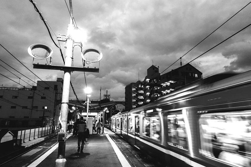 黄金町 京浜急行 横浜 Rx100m3 Sony Rx100 M3 Sony Yokohama, Japan Station Platform Cityscapes City Life Monochrome Black And White Blackandwhite Evening Train Passing Station Train Station Ultimate Japan On The Way People And Places Embrace Urban Life The City Light
