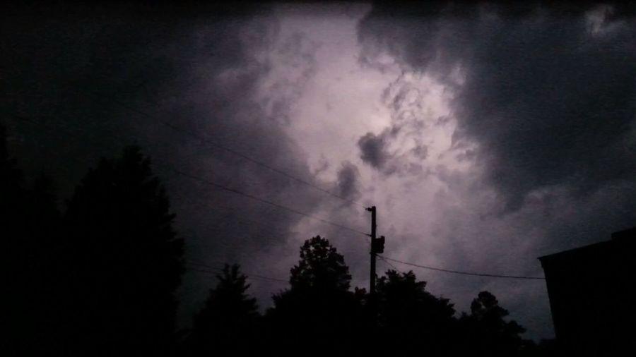 Night No People Cloud - Sky Outdoors Thunderstorm Storm Cloud Sky Nature Dramatic Sky Lightning Behind Clouds