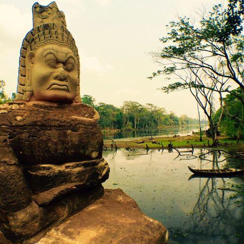 Art And Craft Statue Sculpture Water Tree Human Representation Religion Spirituality Nature Idol