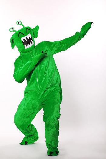 green alien moster Alien Alien Suit Dancing Alien Dancing Monster Dancingmonster Green Green Alien Green Color Green Monster Studio Shot