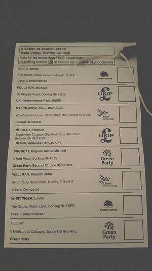 Ballot Slip Voting