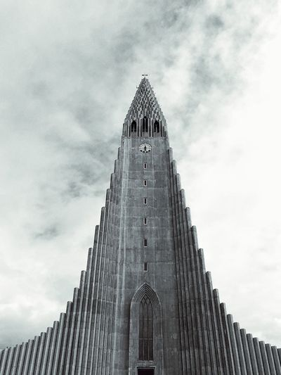 Hallgrímskirkja Reykjavik Iceland Architecture Built Structure Sky Low Angle View Building Exterior Cloud - Sky Tall - High Building Travel Destinations Tourism Travel