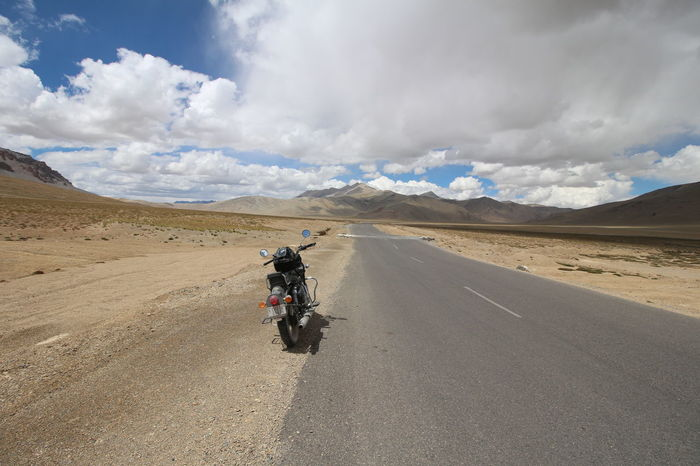 The Great Bike Adventure Adventure Bike Touring Leh Ladakh.. Manali Leh Higway Middle Of Nowhere Motorbike Mountains And Sky On The Road Open Road Ride Of My Life The Great Outdoors - 2017 EyeEm Awards