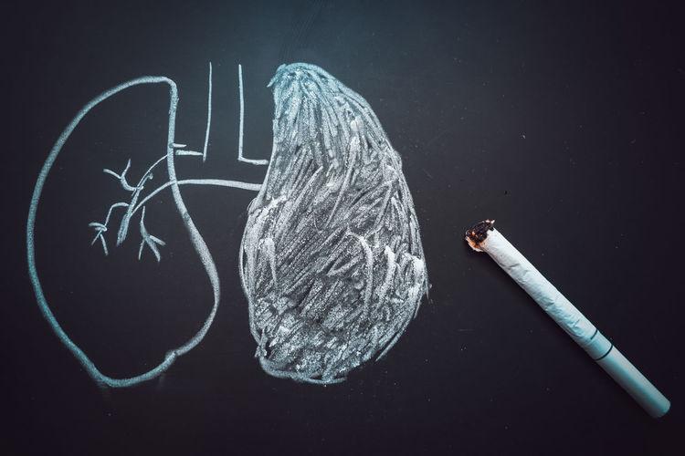 Cigarette  Cancer Health Lung Smoke Illness Death Disease Chalkboard Chalk Drawing Tobacco Danger Nicotine RISK Care Medical Stop Medicine Habit Addiction Smoker Healthy Bad Unhealthy