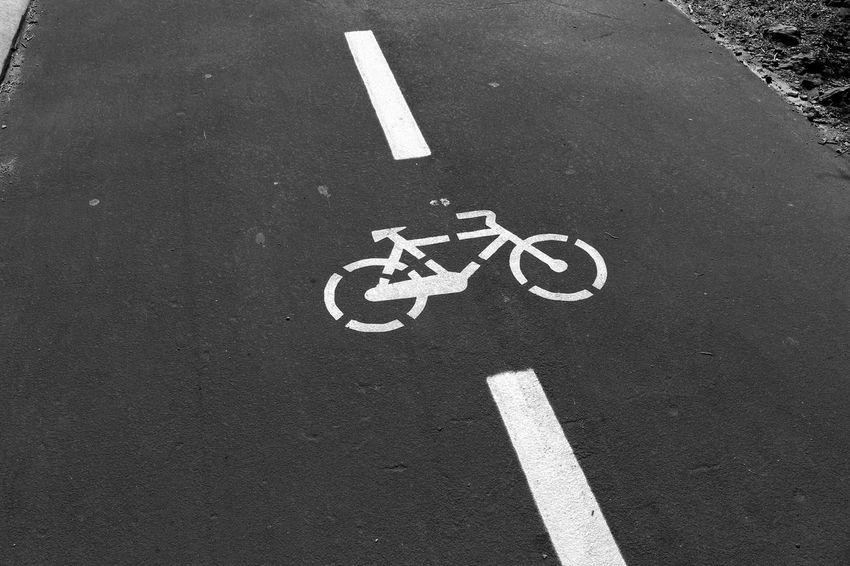 Bicycles only. Pavement Sign Road Minimalism Taking Photos EyeEm Eye4photography  Eye4black&white  Enjoying The View Black & White Eyeemphotography Urban Landscape Black And White EyeEmBestPics EyeEm Best Shots Experimenting... Portugal
