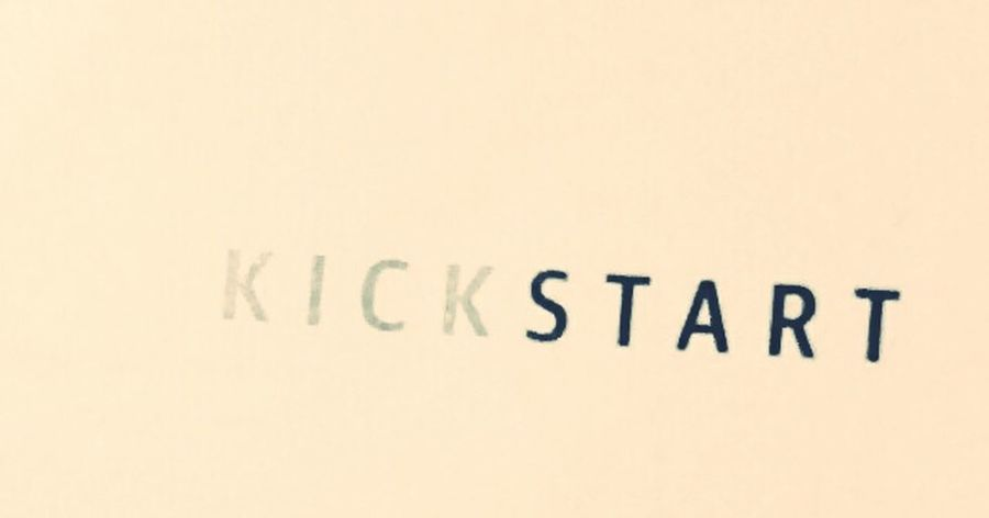 Kick start Text Kickstart KICK START THE DAY