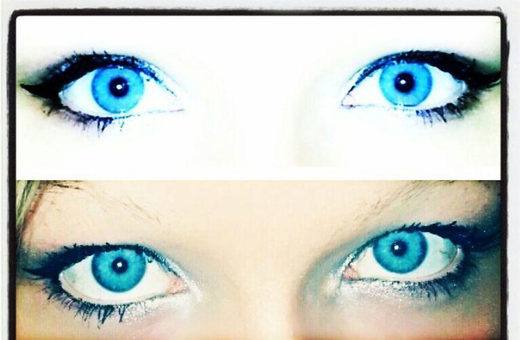 Blue Eyes <3 BlueEyes ShowingMyEyes PrettyEyes my blue eyes i love them. :*