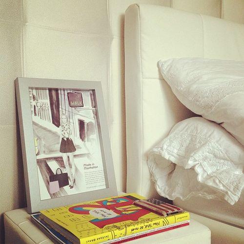 Bedroom Bed Birdyandme Stickerfashionista newyork newyorkbook newyorktheme ny newyorketmoi books magazines manhattan ipod america usa