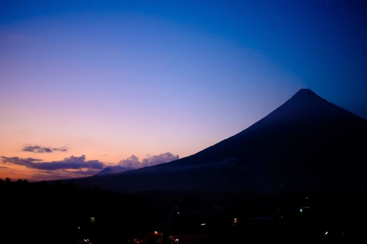 Mt. Mayon Albay Philippines Sunset Blue Hour Landscape Nature Nature_collection Nature Photography The Great Outdoors With Adobe