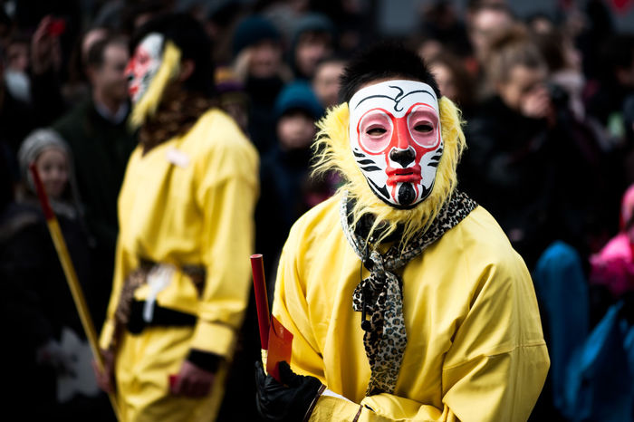 chinese opera Celebration Chinese Opera Costume Crowd Disguise Face Paint Fan - Enthusiast Festival Focus On Foreground Front View Group Of People Incidental People Men Paint People Real People Spectator Standing Waist Up Yellow