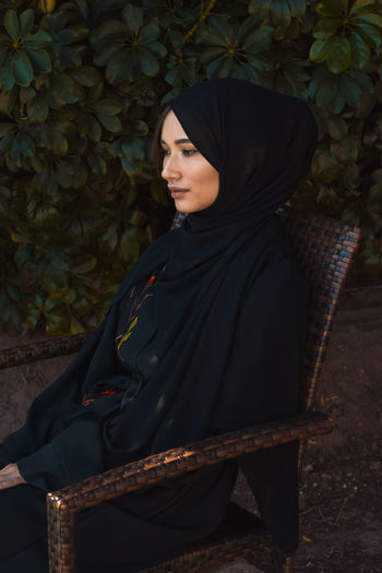 Woman in black Fashion Islamic Design Abayah Beautiful Woman Day Full Length Hijab Hijabstyle  Leisure Activity Lifestyles Muslim One Person Outdoors People Real People Standing Traditional Clothing Tree Veil Women Young Adult Young Women Be. Ready.