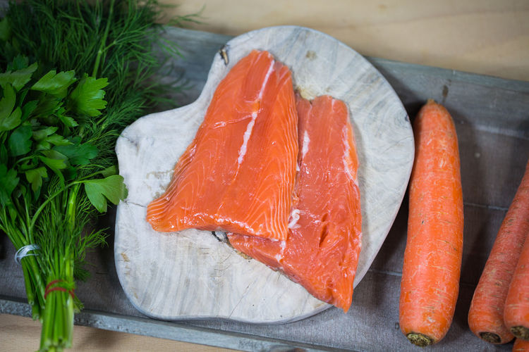 Salmon; Portion; Protein; Raw; Red; Piece; Organic; Omega; Omega-3; Omega-6; Orange; Rosemary; Uncooked; Unsaturated; Wooden; Steak; Slice; Salt; Sea; Seafood; Sheet; Natural; Lunch; Colorful; Cuisine; Delicious; Diet; Board; Beauty; 6; Acid; Atlantic; Ba