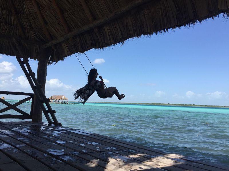 Lifestyles Lifestyle Photography Caribbean Caribe Bacalar Mexico Girl Swing Paradise